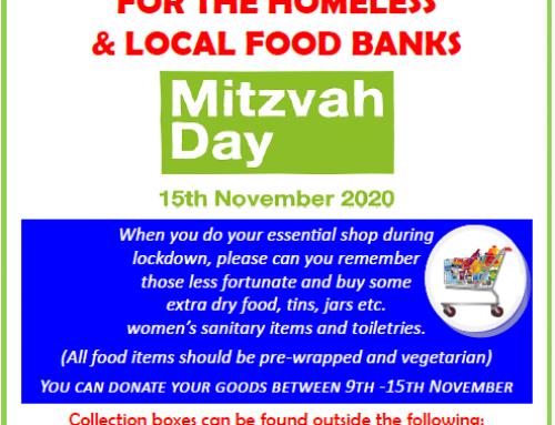 Mitzvah Day November 15th 2020
