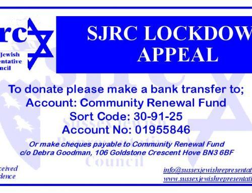 SJRC Lockdown Appeal