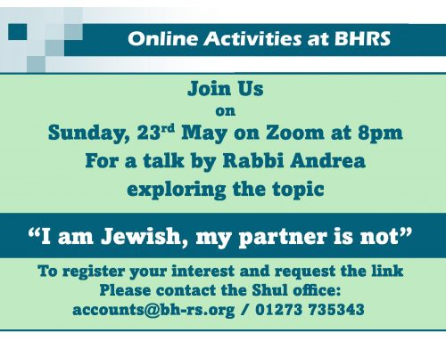 BHRS: 'I am Jewish. My partner is not'